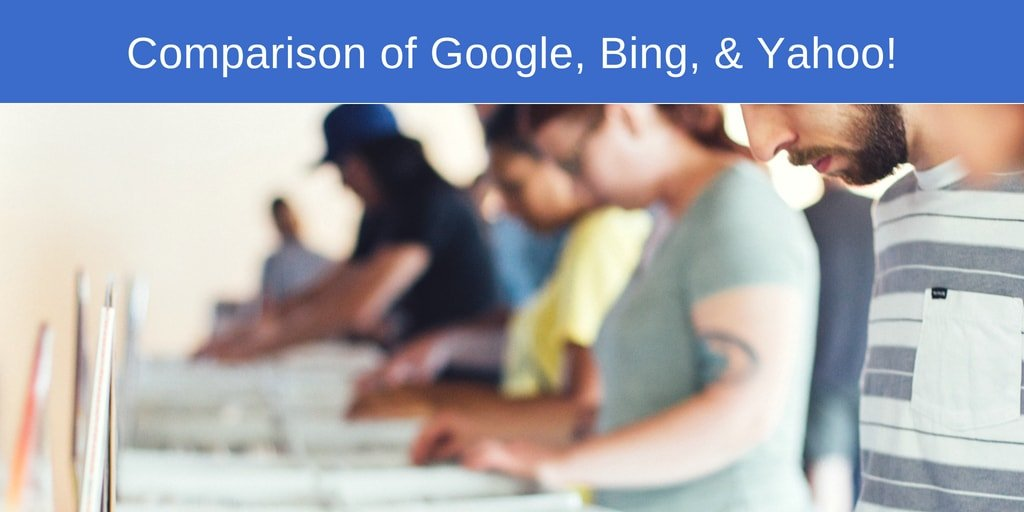 Google vs Bing vs Yahoo comparison and Review